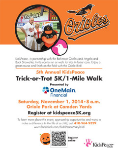 2014 KidsPeace 5k Run 1 Mile Walk presented by OneMain Financial Ad