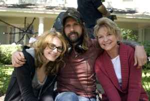 HALLOWEEN, Scout Taylor-Compton, director Rob Zombie, Dee Wallace, on set, 2007. ©Dimension Films