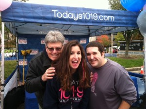 A huge shout out to 101.9 for supporting the race ever year. Pictured: Fast Jimi and Gina Crash